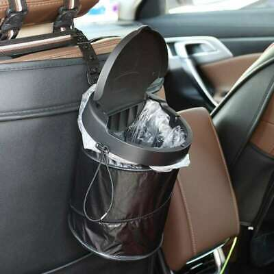 Portable Car Dustbin Trash Waterproof Collapsible Can Box With Lid & Garbage Bag