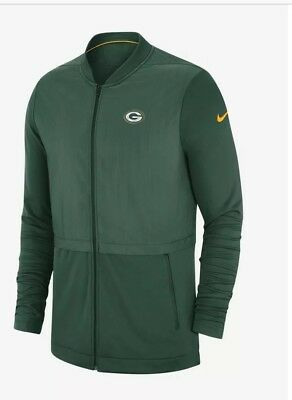 A. Official Nike Nfl Elite Hybrid Packers Men's Football Training Jacket Size Xl