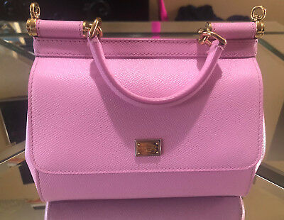 c8a40a7050 DOLCE   GABBANA Small Dauphine Leather Sicily Bag Pink! -  750.00 ...