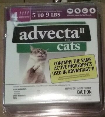 Advecta II Flea and Tick Treatment for Small Cat, 4 Monthly Treatments