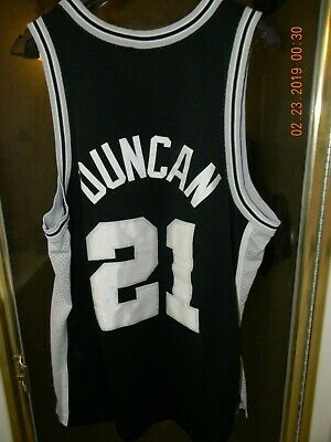 95d8938af TIM DUNCAN 21 San Antonio Spurs NBA Champion Black Jersey Boys Small ...