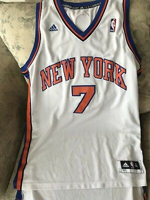CARMELO ANTHONY   7 New York Knicks Adidas Blue Youth Swingman NBA ... 4620d1395