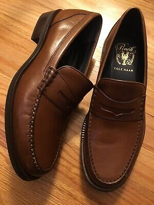 219fc08b48c COLE HAAN Pinch Sanford Penny Loafer Shoes Mens Size 7.5. British Tan.  Brand New