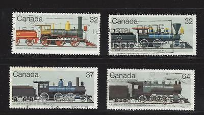 "Canada  1984  # 1036  - 1039  "" Canadian Locomotives 2 "" Set of 4  Used  F"