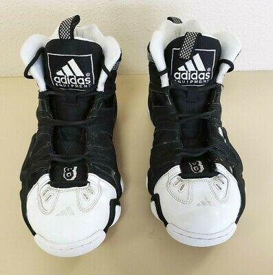 73f1c73087be Men s Adidas Crazy 8 Black white Leather Basketball Shoe Size 11.0