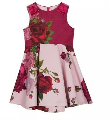 fac67c86f TED BAKER - Girls' light pink floral print dress Age 13 BNWT ...