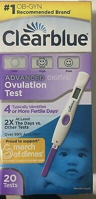 Clearblue Advanced Digital Ovulation Test 20 Tests Exp 4/19 M