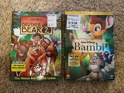 Bambi Two Disk Edition and Brother Bear 2 (DVD)