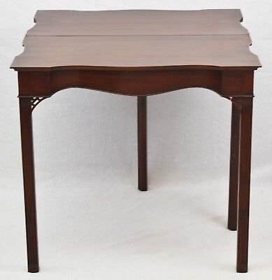 Henkel Harris SPNEA MAHOGANY GAME TABLE CHIPPENDALE Williamsburg Style