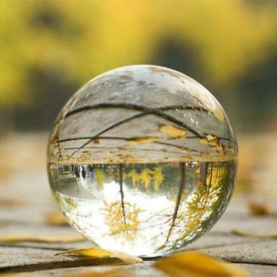 K9 Glass Clear Crystal Ball Photography Lens Photo Prop Background Sphere 80mm