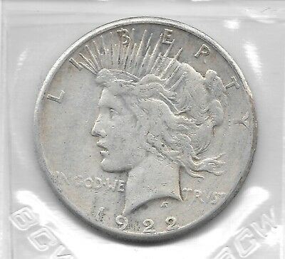 US Peace Dollar, minted in 1922-S (#1)