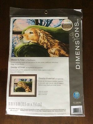 Dimensions 71-20078 Winter'S Nap Needlepoint Linda Daniels Factory Sealed