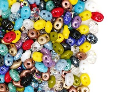 20g 2.5x5mm MIX of SuperDuo 2-hole Seed Beads Czech Glass (RK2000)