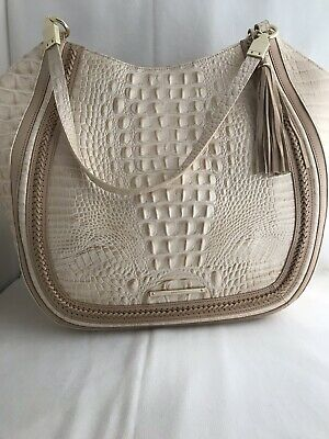 becac827f784 NWT BRAHMIN THELMA Shoulder Bag Tote in Pewter Melbourne Embossed ...