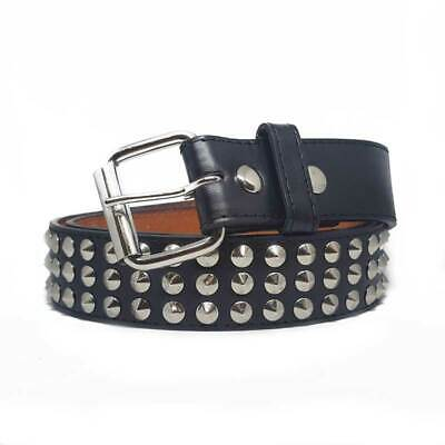 Silver Metal Conical Studded Unisex Leather Belt - Gothic,Goth,Punk,Steam