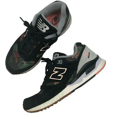 WOMENS NEW BALANCE 530 Encap Sz 6.5 Black Leather Sneakers Running Shoes W530AA