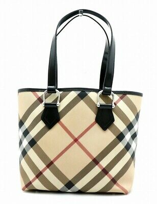 9d60b6e57d2b Burberry Nova Check Plaid Tote Bag Shoulder Bag Shoulder Tote PVC Shoulder  Bag