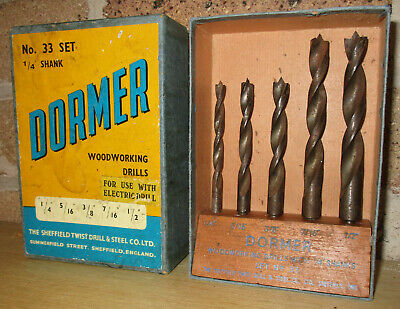 Genuine Vintage Dormer Drill Bit Stand Holder Boxed Display Bits Old Used Tools