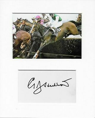Geoff Hubbard horse racing genuine authentic signed autograph signature AFTAL