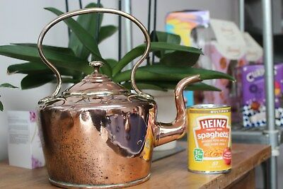 Lovely Original Victorian Antique Copper Kettle c1859..1899, Old Vintage