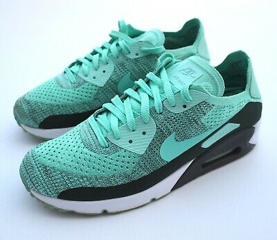 Nike Air Max 90 Ultra Flyknit 2.0 Hyper Turquoise Mens Trainers Sneakers - UK 9
