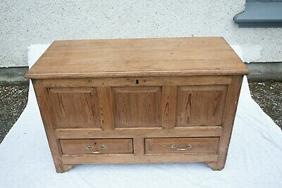 Victorian Pine Two Drawer Mule Chest Blanket Box Trunk