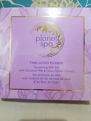 Avon Planet Spa Pamper Collection Gift Set Thai Lotus Flower Nib