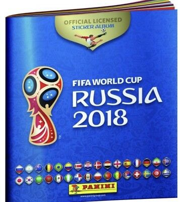 FIFA World Cup Russia 2018 Official Licensed Sticker Album + 6 Stickers (NEW)