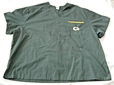f2ef2836dd5 Officially Licensed NFL Champion GREEN BAY PACKERS Men's 2XL Scrub Top -Hospital!