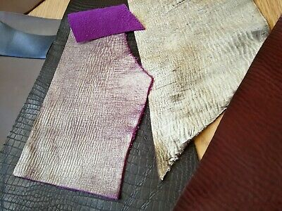 Quality Large Leather Print Arts & Crafts, Off Cuts, Scrap Remnants various DIY