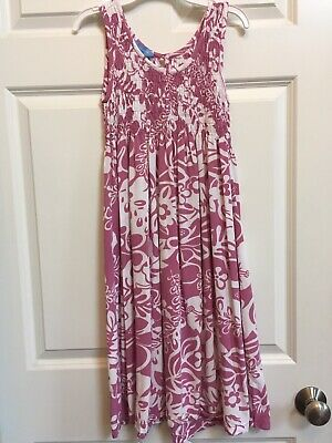 36ad9cf97039c Blue Ginger Girls Sleeveless Hawaiian Dress Purple & White floral Size 10