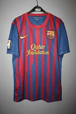 Barcelona Spain 2011 2012 Home Football Shirt Jersey Camiseta Nike Size S 42e798696