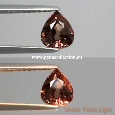 Aaa  Natural Color Change Garnet  Ct 1.16  Pear Cut Origin Africa Very Good
