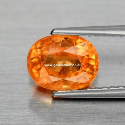 Aaa - Spessartite Garnet Ct 1.81 Oval Cut Fanta Orange Origin Namibia Stunning
