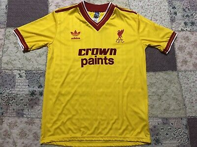 new style 6911e 040f9 LIVERPOOL RETRO REPRO Adidas 1985-87 Third Shirt Yellow Crown Paints Size S