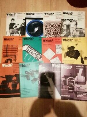Vintage Which? Magazine 1963, all 12 issues for year