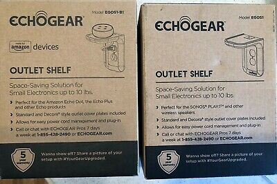 ECHOGEAR Outlet Shelf 2 units Included 1 Black and 1 White FAST FREE SHIPPING