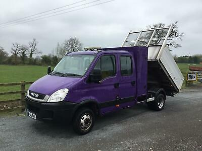 Iveco Daily 45C18 double cab tipper 7 seater 2010 86,000kms tacho lwb