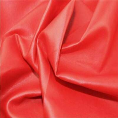 Leatherette RED faux leather look vinyl upholstery fabric material 140cm wide