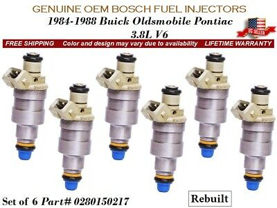 Genuine Bosch Set OF 6 Fuel Injectors For Buick Pontiac Oldsmobile 3.8L
