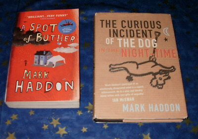 X2 books Mark Haddon Curious Incident of The Dog in the Night-Time Spot Bother