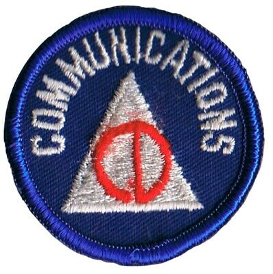 Vintage Civil Defense Communications Patch - Homeland Security Cold War (Sew on)