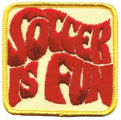 Vintage Soccer is Fun Patch (Sew on)