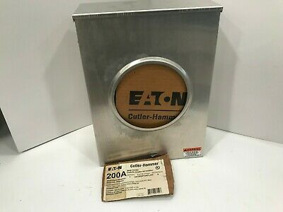 Cutler Hammer 200 Amp Meter Socket Outdoor UATRS213AFLCH Series A Lot 1