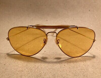 665ac353753 VINTAGE RAY BAN Outdoorsman Ambermatic Changeable 62 Bausch Lomb B L ...