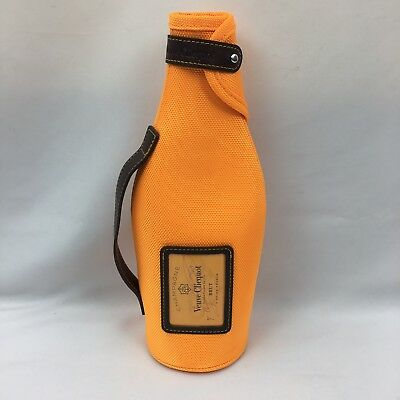 Veuve Clicquot French Champagne Holder Soft Carrier Orange Barware France