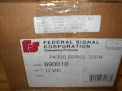 New Old Vintage Federal Signal Pa300 Siren 200 Watt 690010