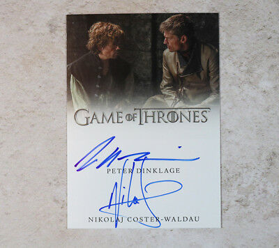 Game of Thrones 2 autograph trading card Peter Dinklage & Nikolaj Coster-Waldau