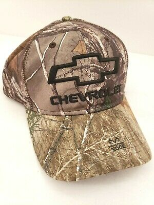 b734235d9c6 Chevrolet Chevy Trucks Camo Realtree Brown Embroidered Adjustable Mens Hat  Cap
