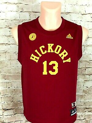 27e0b85fcec Paul George  13 Indiana Pacers Adidas HWC Nights Hickory Jersey Size Youth  LG